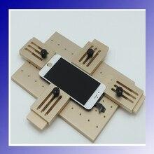 Nueva llegada universal de reparación de la pantalla lcd ajustable molde molde de la lente frontal exterior de cristal para el iphone samsung htc