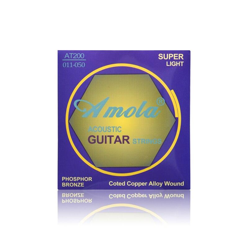 10 sets Amola AT200 Cuerdas de Guitarra Acústica Cuerdas de Guitarra Acústica in