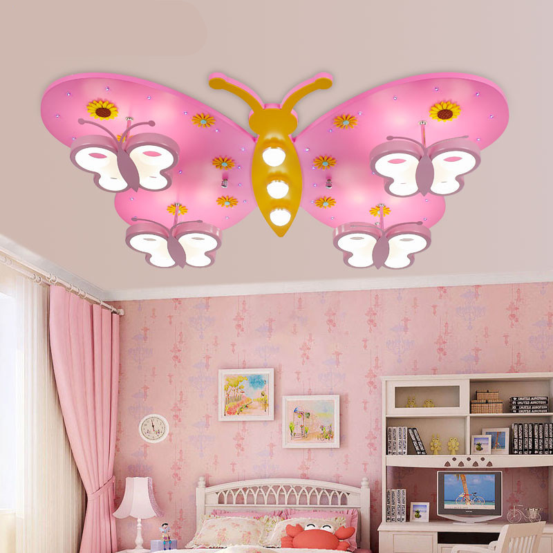 Aliexpress buy new creative pink girl princess bedroom aliexpress buy new creative pink girl princess bedroom ceiling lamp cartoon butterfly led lighting ceiling lights lovely free shipping from reliable mozeypictures Images