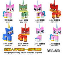 8 kinds of unicorn Action Figures Single Sale Kitty Cat Fruit Halloween Pumpkin Man Joker Building Blocks Toys for Children  j94