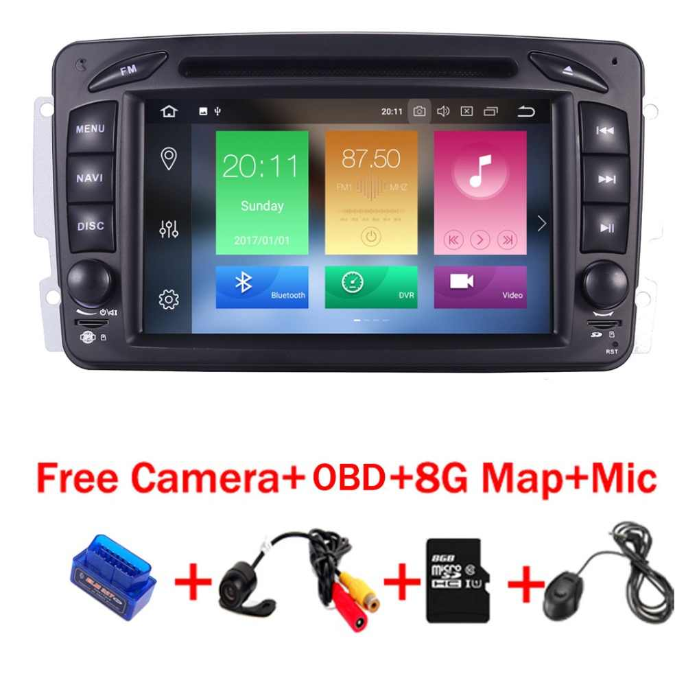 "7""HD Touch Screen Android 9.0 Car GPS Navigation For Mercedes Benz W209 W203 W168 ML W163 W463 Viano W639 Vito Vaneo  Radio dvd"