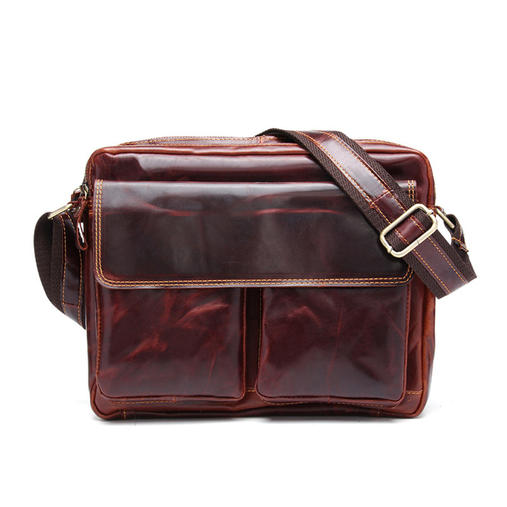 Joyir Genuine Leather Men bags Casual mens shoulder bags high quality messenger bag Vintage Retro business men's Crossbody Bag high quality casual men bag