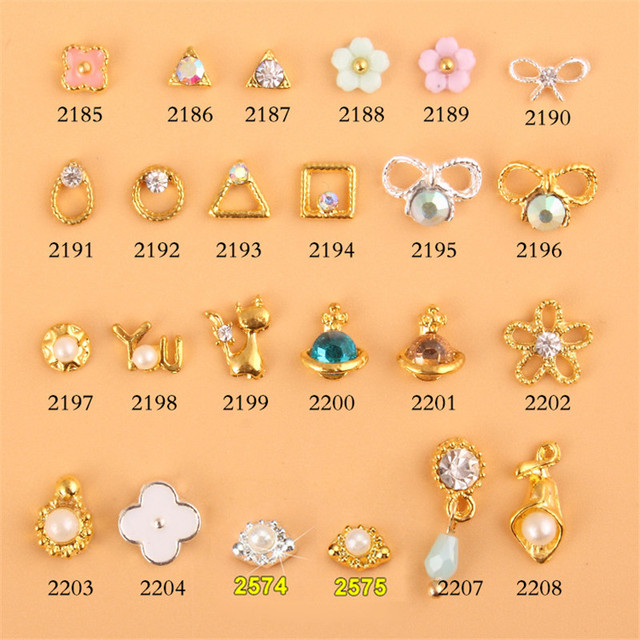 6 Crystal Pearl Photo Picture Frame Diamond Bowknot: 10pcs Nail Rhinestone FLOWER Bow Cat Alloy Nail