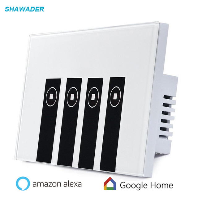 WIFI Smart Wall Switch Light Remote 2/3/4 Gang 1 Way