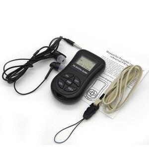 Image 5 - LCD תצוגה אישי מיני דיגיטלי FM רדיו עם אוזניות שרוך נייד דיגיטלי FM רדיו רציף לשמש עבור 50  60 שעות