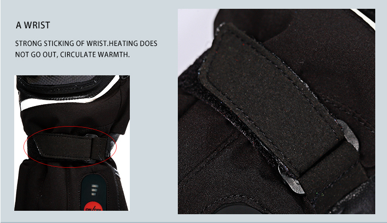 High Quality motorcycle gloves heated