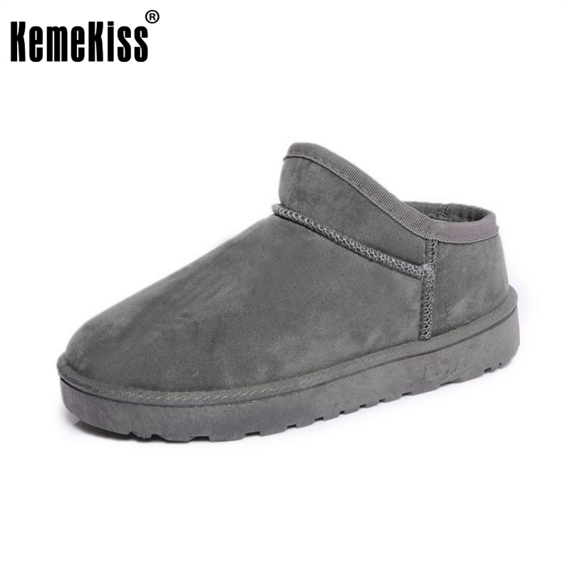 цены KemeKiss Women'S Winter Snow Boots For Women Thick Fur Warm Botas Female Thick Platform Warm Plush Shoes Women Size 36-40