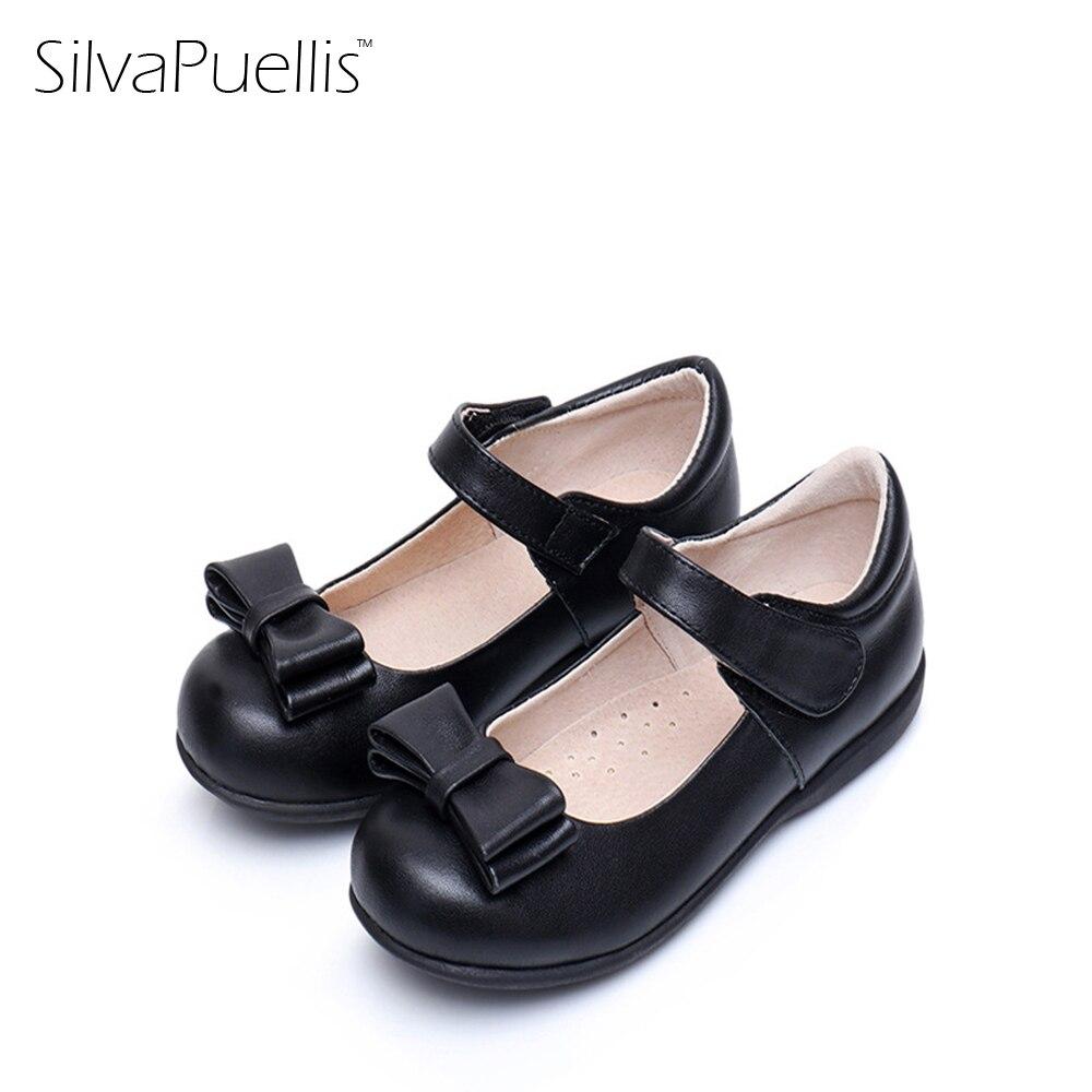 SilvaPuellis kravské kožené dívky boty Slip na Mary Janes Butteryfly ... 4176528587