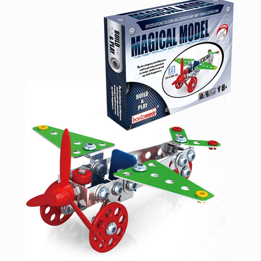 10 Pcs DIY 3D Blocks Assemble Aircraft Puzzles Toys Models Building Toy Newest