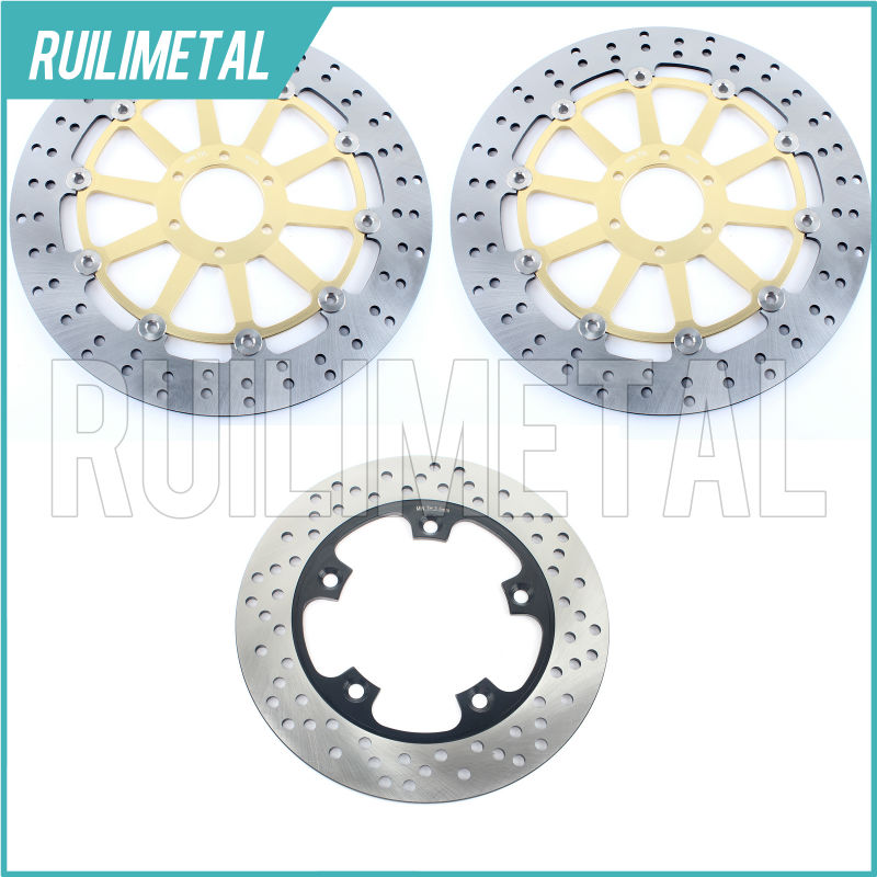Front Rear Brake Discs Rotors for APRILIA RSV 1000 Factory Dream I & II Mille R Version RSV1000R Nera SP Tuono SL 1000 Falco for aprilia rsv 1000 mille 2004 2007 cnc aluminum front