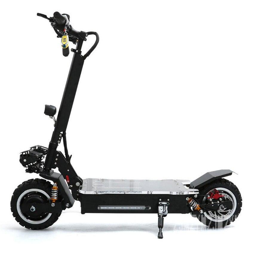 Polegada Dual Drive roda 1600 W * 2 11 Scooter Elétrico Off-road Scooter de Skate Elétrico Com Piscando Noite luz 60 V 20AH/25AH