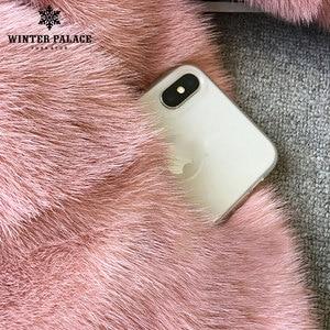 Image 5 - 2018 Winter Nieuwe Stijl Bont Kat Natuurlijke Mlnk Stand Kraag Goede Kwaliteit Mlnk Bontjas 60 Cm Lange Jassen Van bont Mode Slanke Bont
