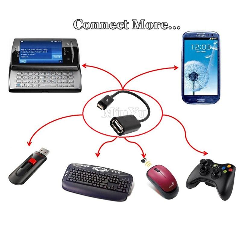 Micro USB 2.0 HOST OTG Кабель-адаптер для TCL P618L 750 OTG conveter для senseit E500, E400