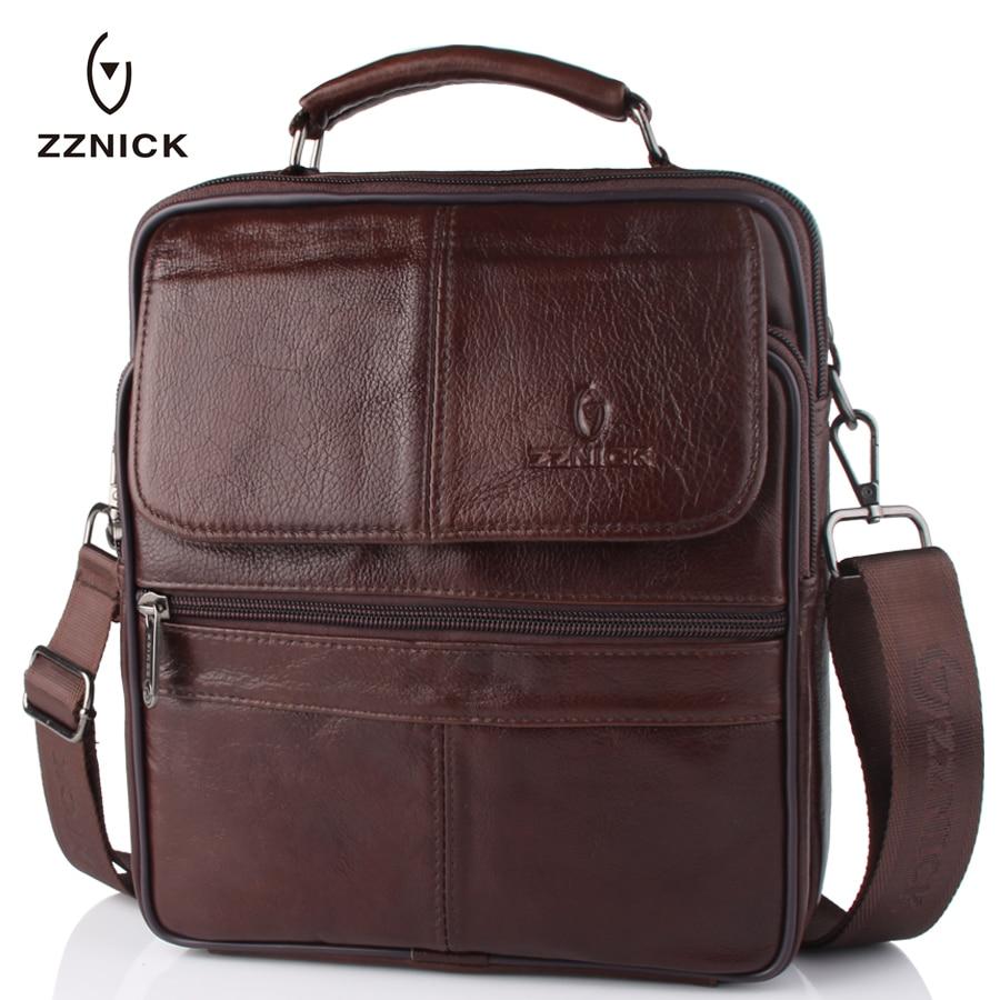2019 New Style Men Genuine Leather Messenger Bag Male Cowhide Leather Cross Body Shoulder Bag Vintage Design Men Bags Briefcase