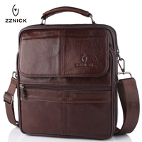 2018 New Style Men Genuine Leather Messenger Bag Male Cowhide Leather Cross body Shoulder Bag Vintage Design Men Bags Briefcase