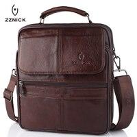 2018 New Style Men Genuine Leather Messenger Bag Male Cowhide Leather Cross body Shoulder Bag Vintage Design Men Bags Briefcase