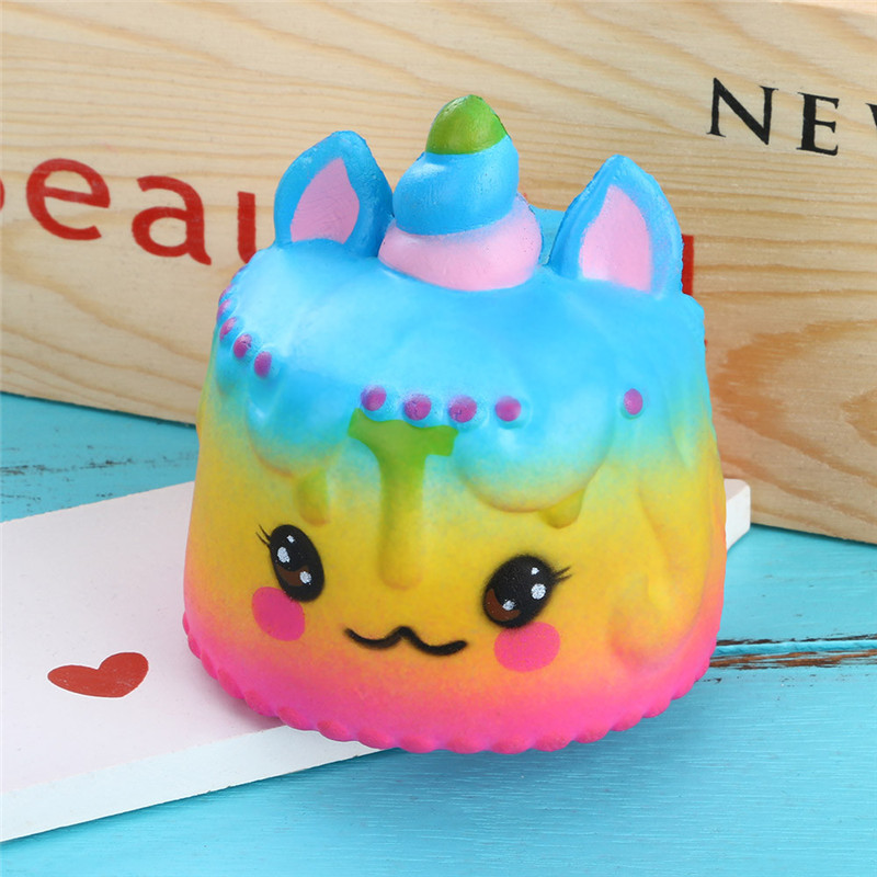 Squishies Jumbo Cake Slow Rising Squeeze Stress Reliever Charm Kids Toy Gift Stress Relief Slow Rising Squishies Toys