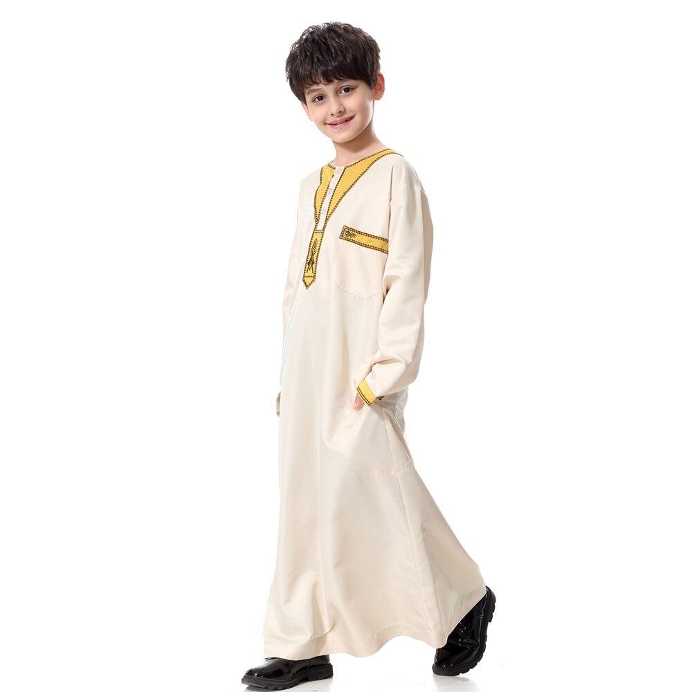 dbecb54ec5d54 Hot Sale] Teenager Boy Arabic Robe Baby Long Sleeve Emboridery Saudi ...