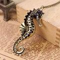 Unisex Fashion Cute Ocean Animal Seahorse Pendant Sweater Chain Long Necklace