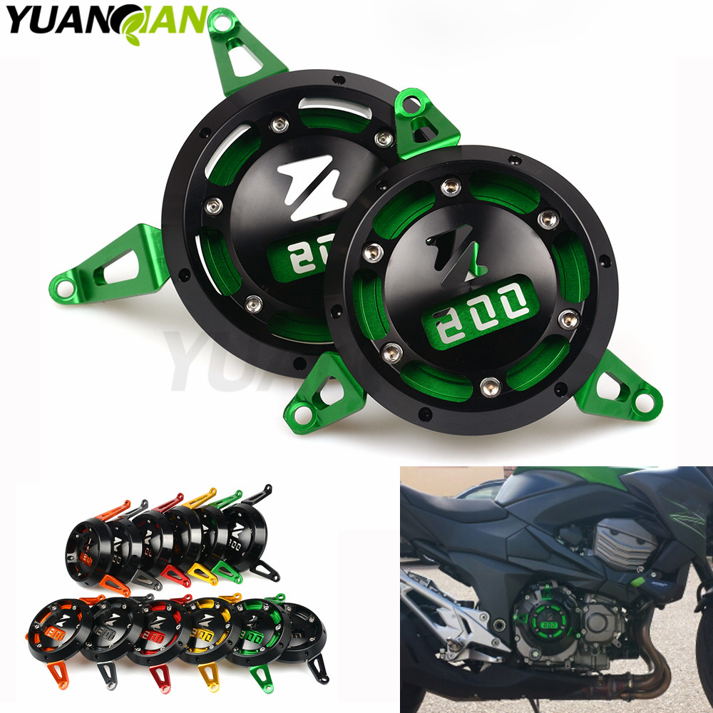 2pc CNC Motorbike Motorcycle Engine Stator Cover Engine Protective Cover For kawasaki z800 2013 2014 2015 2016 2017 Z 800 Z800 new products motorcycle engine protective protect cover stator engine covers for kawasaki zx10r 2011 2012 2013 2014 2015 2016