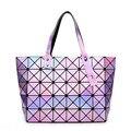 Nova tendência de hollywood mulheres designers da marca de alta qualidade bolsas bao bao saco holográfico, o melhor presente para ela
