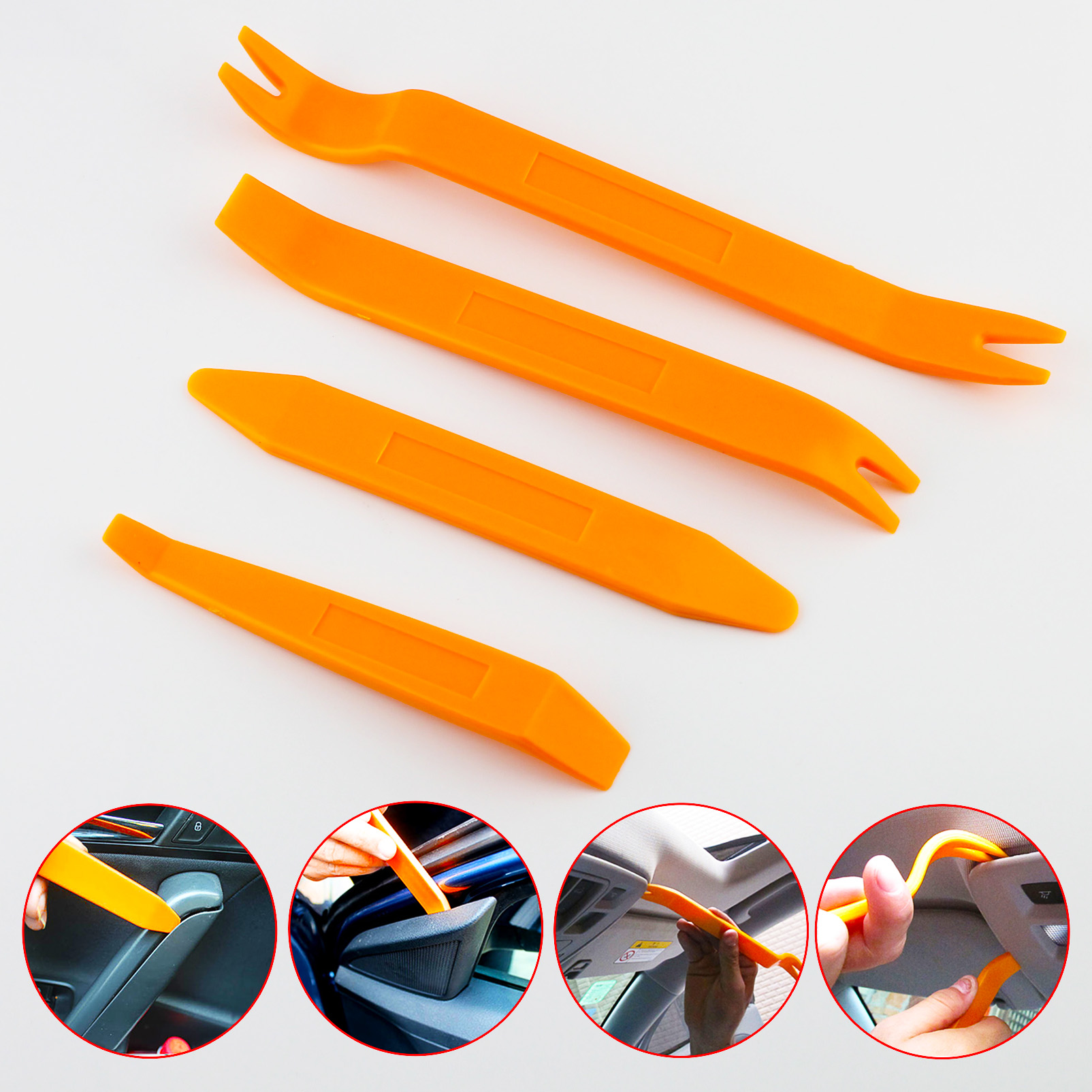 Durable Car Removal Dismounting Kits Interior Door Dashboard Clips Panel Assist Clearance Disassemble Tools 4Pcs/Set Accessories
