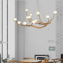 nordic LED Chandelier Lighting Design Light Glass Resin Branch Chandeliers Ceiling Lamparas Lustre Art kitchen fixtures