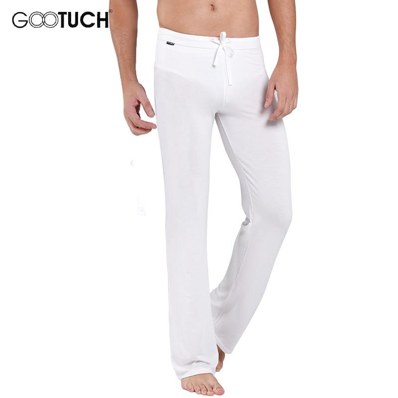 Sleep Bottoms Men's Soft Comfortable Home Wear See Through Pijamas Pants Sleep Wear Loose Drawstring Lounge Pants Underwear 2459