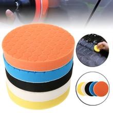 5pcs 7 Inch Polishing Disc Pad Kit White Blue Yellow Black Orange 5 Colors Buffing Sponge Foam For Car Polisher Buffer