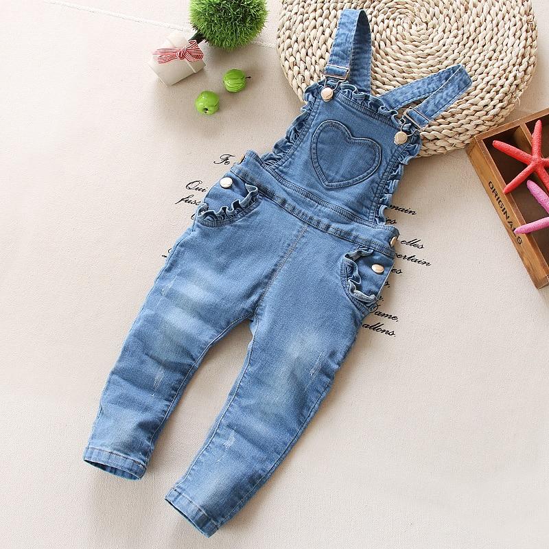 2d11319e9 3 4T kids Clothes Bebe Girls Jeans Overalls Cute Long Pants Cartoon ...