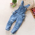 2017 Baby Girls Denim Overalls Brand High Quality infant girl cotton Jeans Jumpsuit children princess clothes