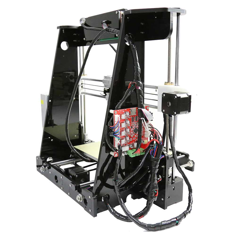 A8 3d Printer Part Diy I3 Acrylic Frame Upgradest High Precision Reprap Wiring Diagram Prusa Black Color Drucker In Printers From Computer Office On