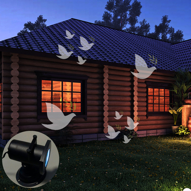 led christmas projector lamp 12 replaceable pattern festival 12 colorful patterns peace dove walls landscapes light - Led Christmas Projector