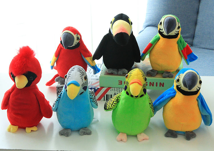 Talking Parrot Plush Toy