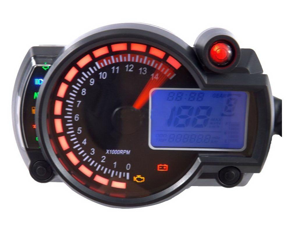 2 Colors Motorcycle Adjustable Digital Speedometer Lcd