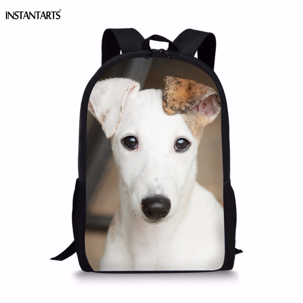 INSTANTARTS милые 3D щенок уиппет печати школьные сумки для девочек Повседневное Начальная школа студентов Lap Топ рюкзаки школьников мешок