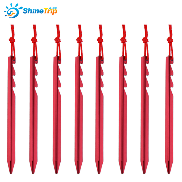 10Pcs/Lot Aluminium Tent Peg Serrated Shape Stake Nails With Ropes For C&ing Equipment Tent  sc 1 st  AliExpress.com & 10Pcs/Lot Aluminium Tent Peg Serrated Shape Stake Nails With Ropes ...