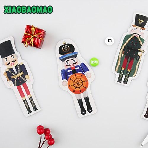 30 Pcs Pack Cute Cartoon Uk Soldier Postcard Nutcracker Greeting