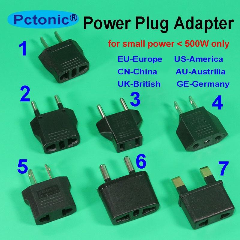 PCTONIC World Europe Travel Power Adapter Plug Converter CN To EU China AC America USA Socket British England Swizerland Adapter