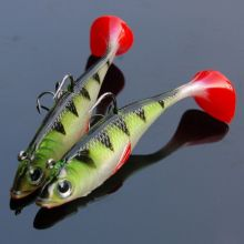 Купить с кэшбэком 2017 2Pcs High Quality Soft Baits Fishing Lure Lead Head Hook Silicone Fish Isca Artificial para Pesca 110mm 19g Wobblers