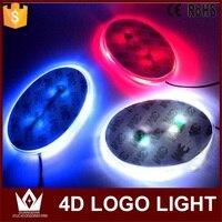 Tcart 1set 13cmx6 5cm Car Rear Emblem Light Lamp Badge Auto Led Logo Light EL Car
