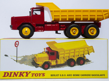 Atlas 1:43 Super Dinky Toys 572 BERLIET GBO AVEC BENNE CARRIERE BASCULANTE Alloy Diecast Car model & Model Collection