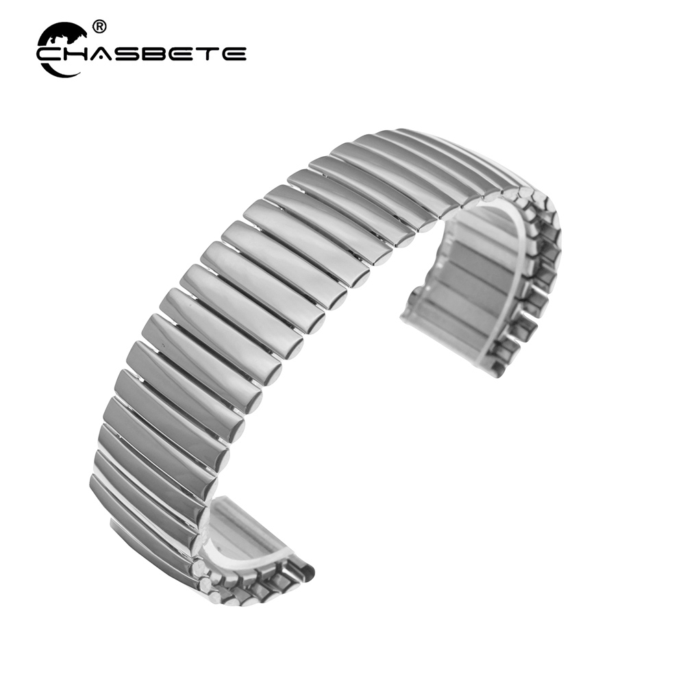 Stainless Steel Watch Band 22mm for Asus ZenWatch 1 2 Men WI500Q WI501Q Elastic Strap Loop Wrist Expansion Belt Bracelet Silver stainless steel watch band 22mm for movado strap wrist loop belt bracelet black silver spring bar tool