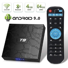 T9 Android TV Box Android 9.0 4GB 32GB 64GB Smart TV Rockchip RK3328 1080P H.265 4K GooglePlay media player PK H96