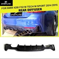 Carbon Fiber Car Rear Diffuser Auto Bumper Lip for BMW 4 Series F32 F33 F36 M Sport Sedan Coupe Convertible 2 Door 2014 2018