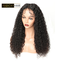 Morichy Curly Lace Front Wig With Baby Hair Brazilian Lace Front Human Hair Wigs For Black Women Remy Hair Lace Wig 150% Density