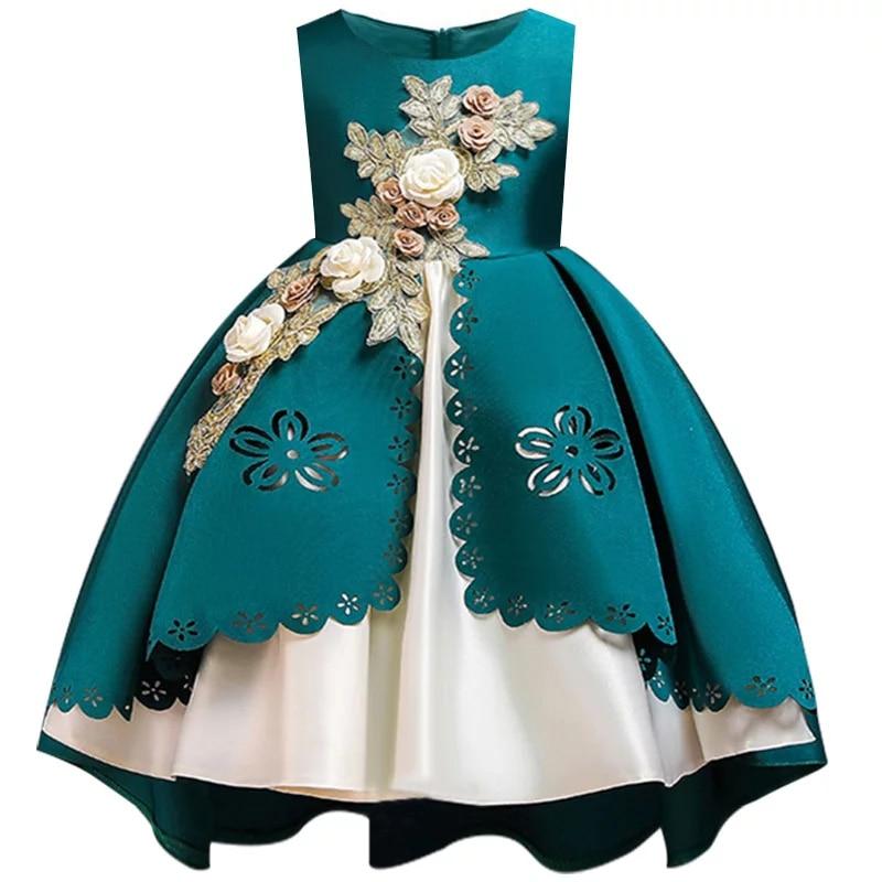 HTB1rZwcX.z1gK0jSZLeq6z9kVXas Kids Dresses For Girls Elegant Princess Dress Christmas Children Evening Party Dress Flower Girl Wedding Gown vestido infantil