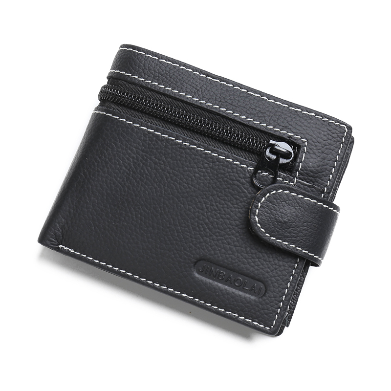 New Wallet Brand Short Men Wallets Genuine Leather Male Purse Card Holder Wallet Fashion Man Zipper Wallet Men Coin Bag Carteira westal genuine leather men wallets leather man short wallet vintage man purse male wallet men s small wallets card holder 8866