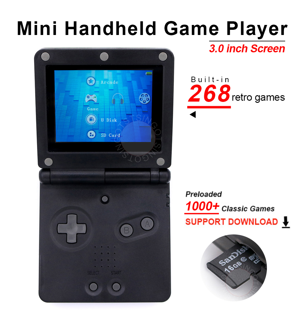 Game-Console Classic-Games Retro 32bit Mini Handheld Portable Built-In New 16GB for Kids