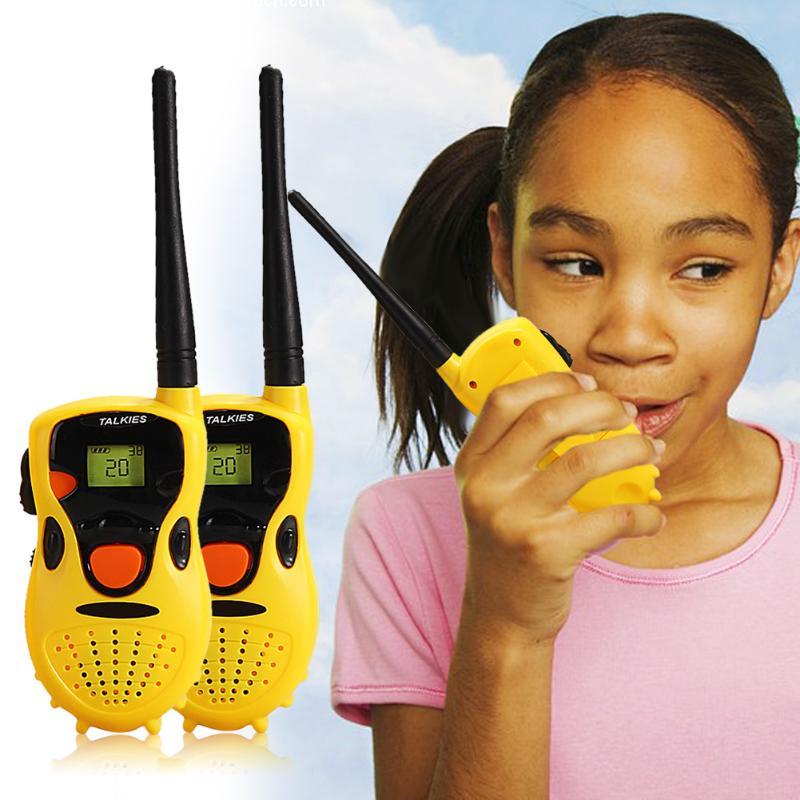 1 par de Walkie Talkie de juguete niños juegos educativos juguetes interactivos niños lindo niños Radio Relogio Interphone regalo